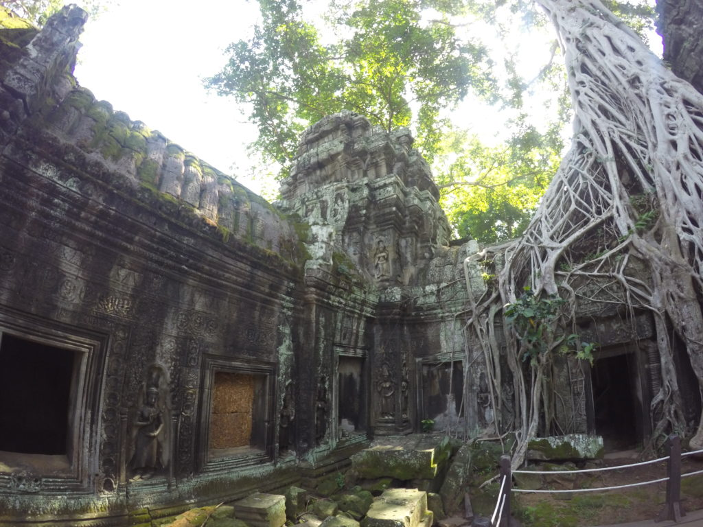 Ta Prohm Temple, Or Otherwise Known As The Tomb Raider Temple In Siem Reap, Cambodia