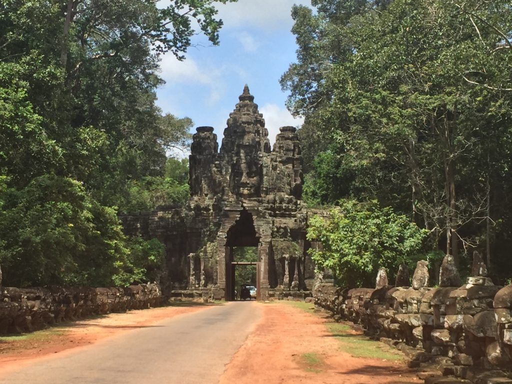 The South Gate Of Angkor Thom In Siem Reap, Cambodia