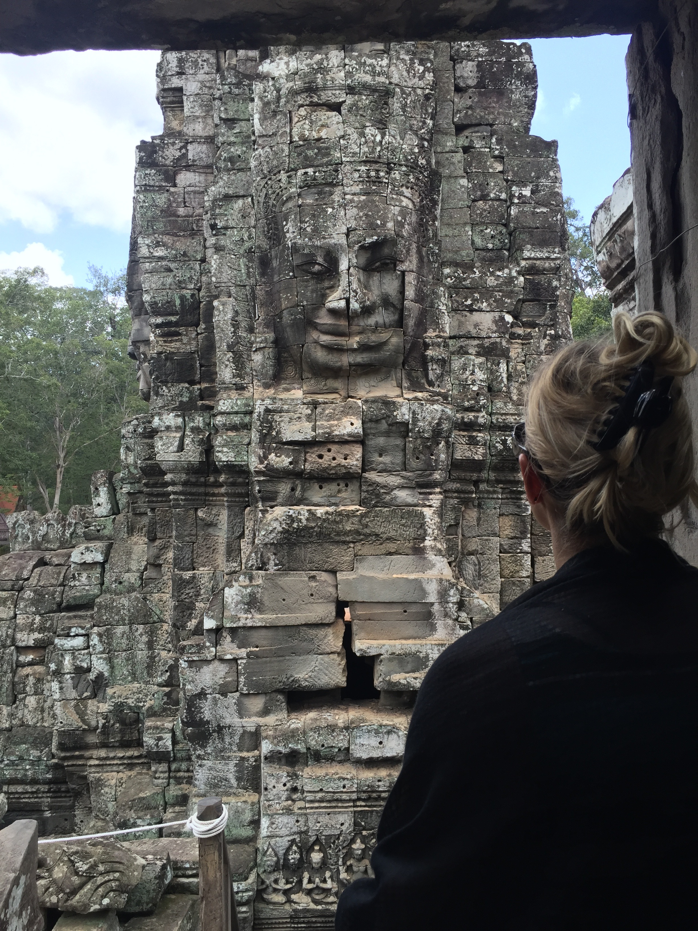 Bayon Temple In Siem Reap, Cambodia, Is Also Known As The Temple Of Many Faces