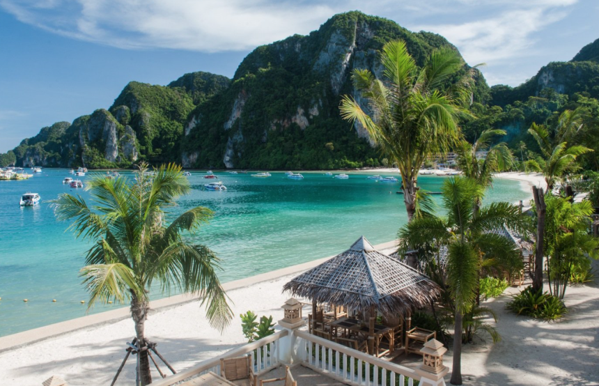 For something more centrally located on Phi Phi Island, Thailand, check out the Phi Phi Island Cabana Hotel