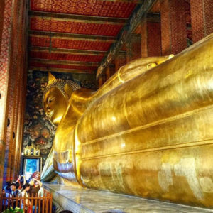 Temple Of The Reclining Buddha In Bangkok, Thailand