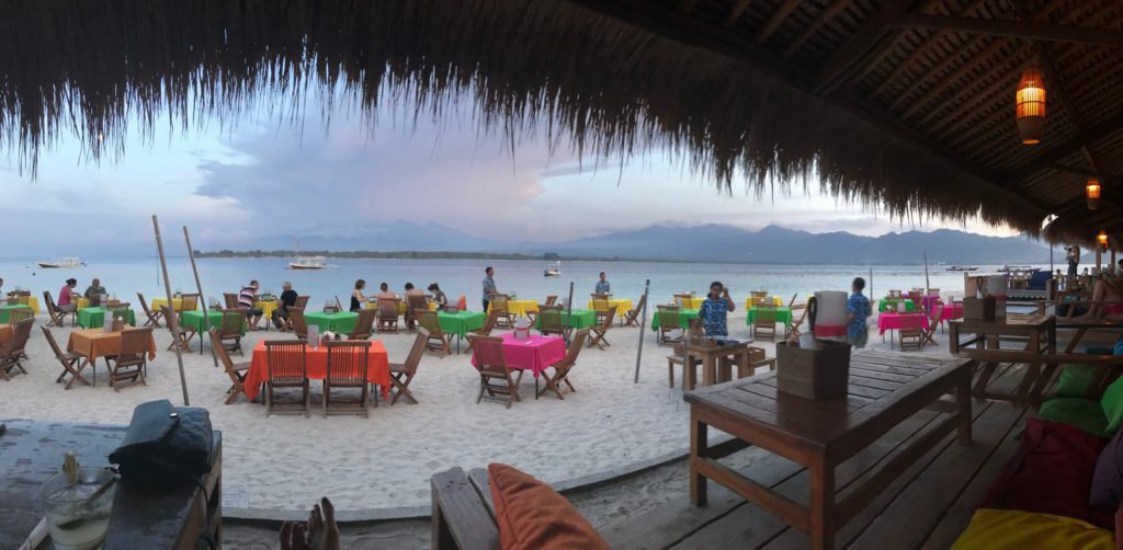 For great drinks, epic views and great music, Chill Out Bar on Gili Air, Indonesia, lives up to the name