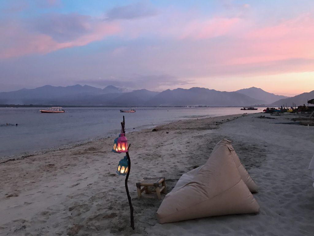 Gili Air, Indonesia offers up some of the most beautiful sunsets