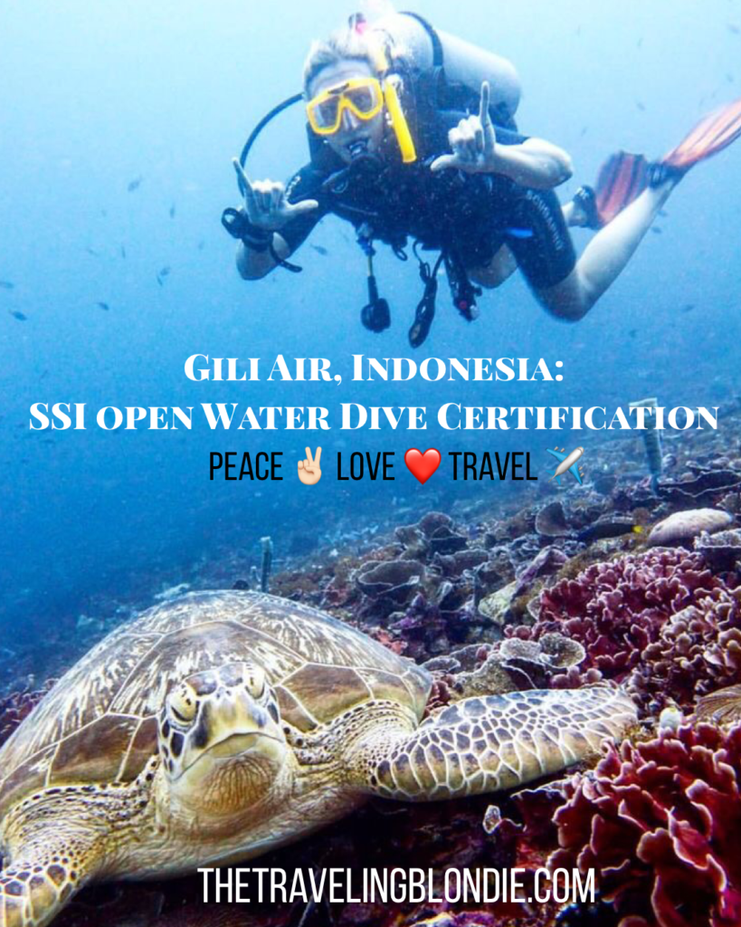 Gili Air, Indonesia: SSI Open Water Dive Certification