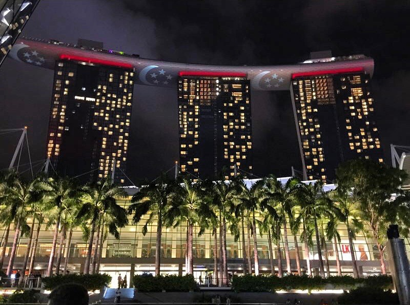 The Iconic Marina Bay Sands Hotel In Singapore