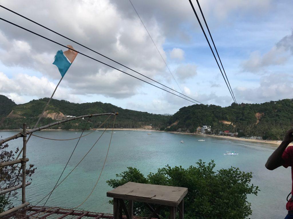 Zip Lining At Las Cabanas Beach In El Nido, Palawan