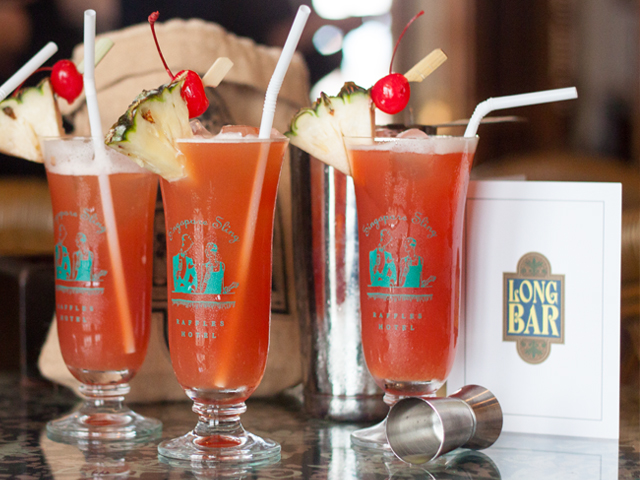 You MUST Have A Singapore Sling At The Long Bar Located At The Raffles Hotel