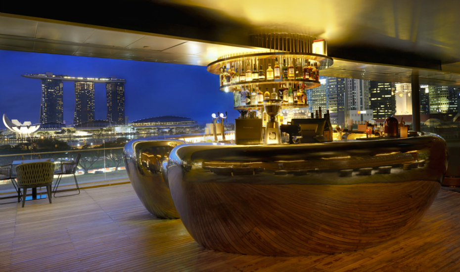Smoke And Mirrors In Singapore Offers A Unique View Of Marina Bay Along With Eclectic Drinks