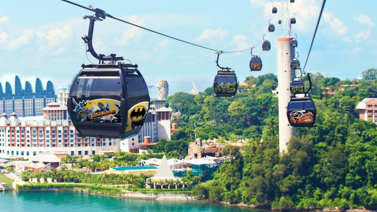 Cable Cars From Mont Fabre To Sentosa Island In Singapore