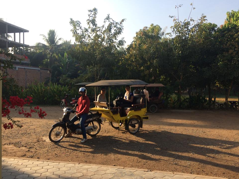 Tuk Tuk's In Siem Reap Made Of A Moped Carrying A Cart