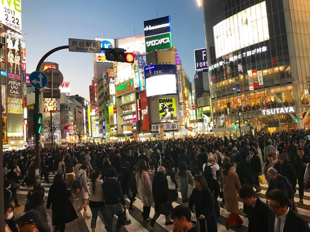 You CANNOT miss Shibuya Crossing when visiting Tokyo, Japan! I've never seen so many people crossing a street in my life!