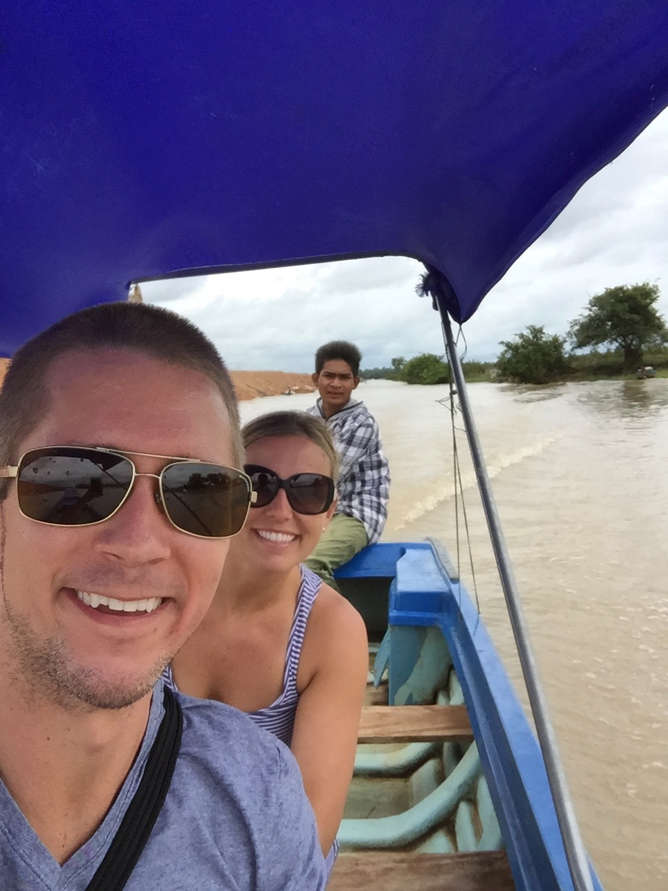 Boat Number One Of Three On The Way To The Floating Village In Siem Reap, Cambodia