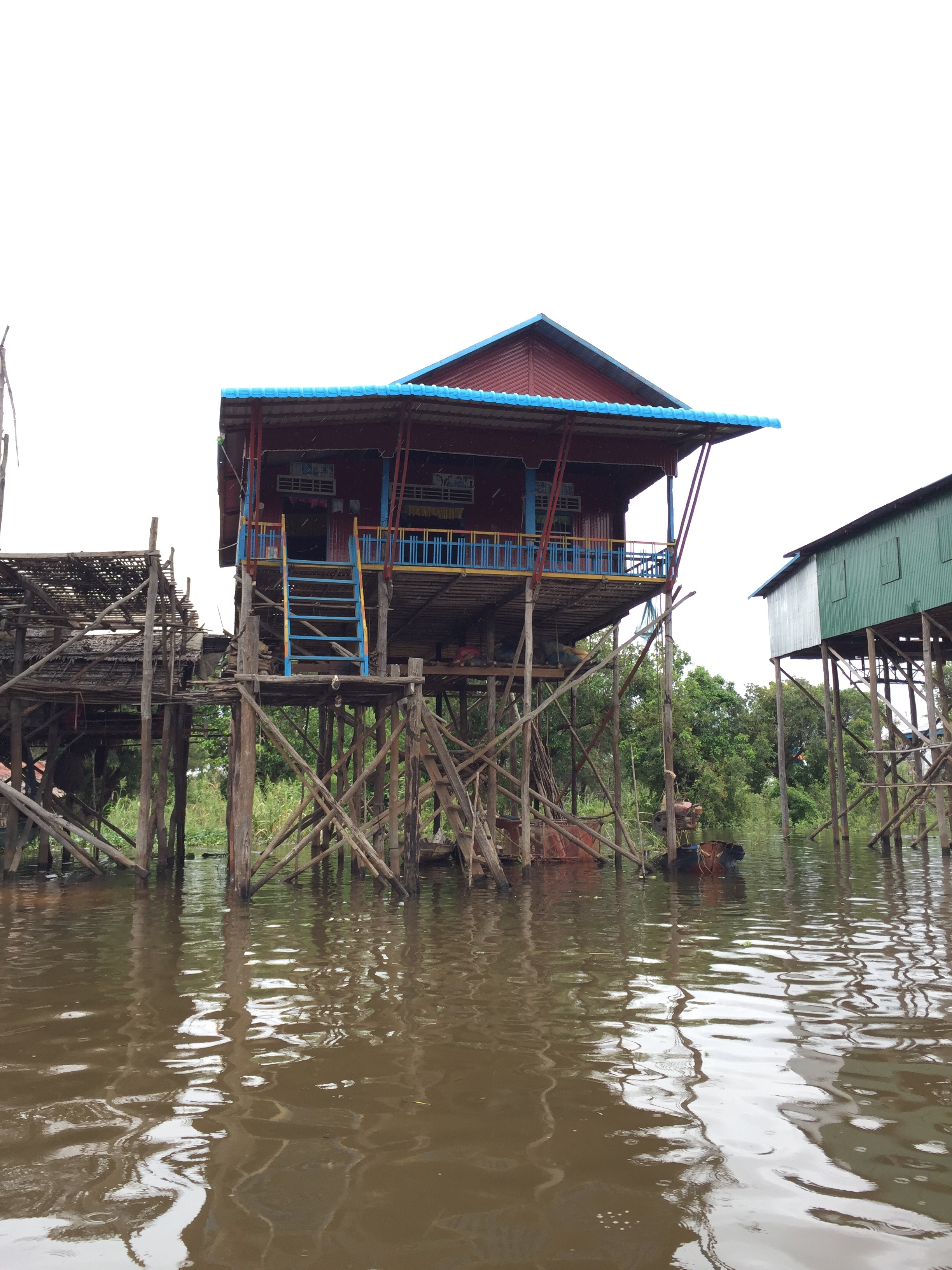 Some Of The Houses Of The Floating Village In Siem Reap, Cambodia