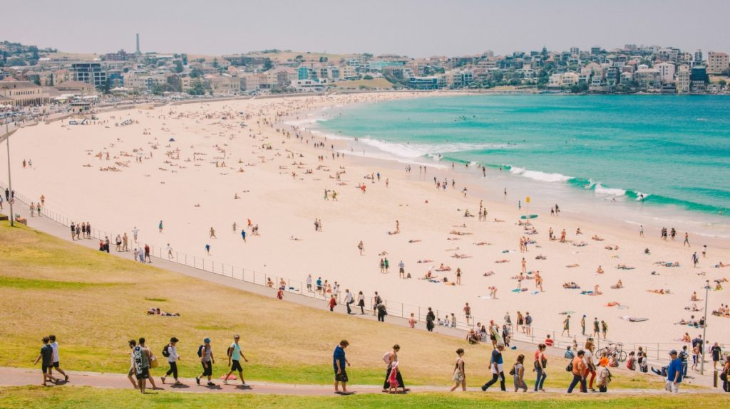 Top 10 Best Beaches In Asia: Bondi Beach- Sydney, Australia