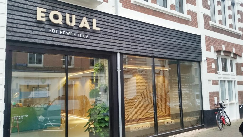 Equal Yoga is an amazing facility in Amsterdam, Netherlands with both hot and cool yoga classes (and they are in English)!