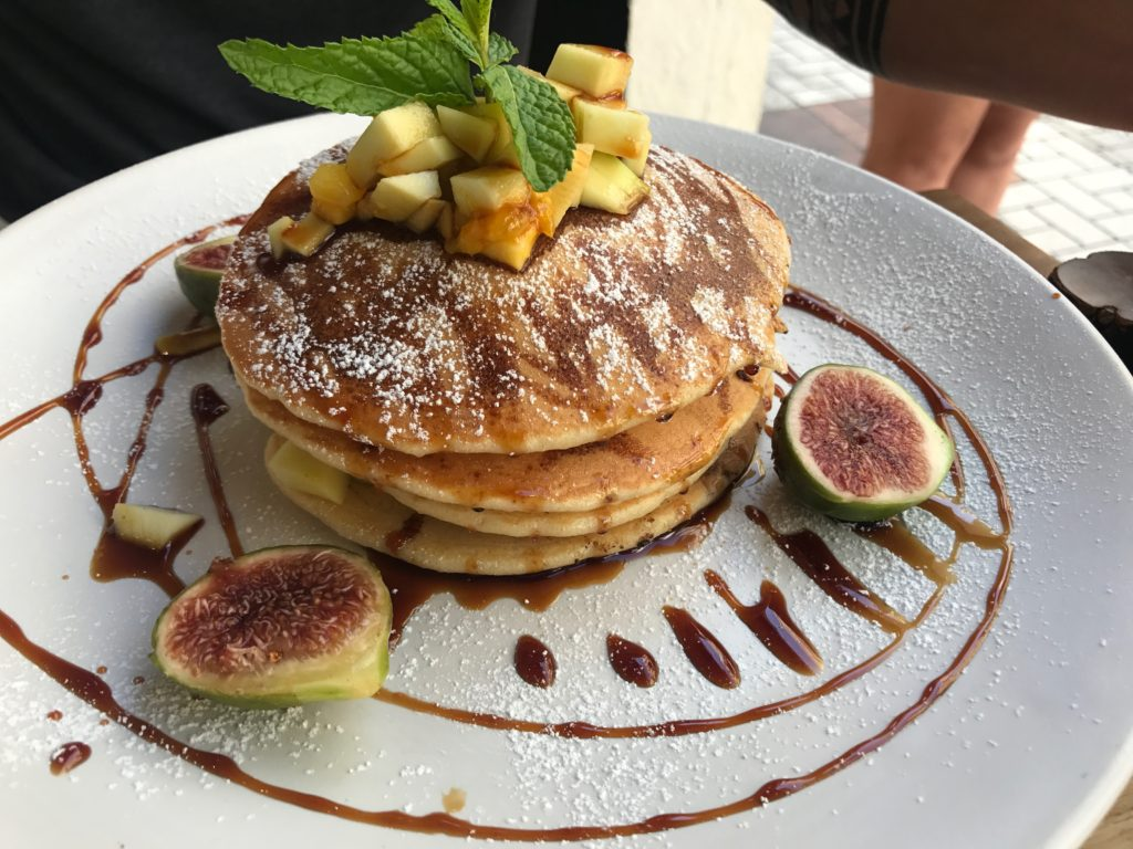 Delicious Pancakes At BrunchIt In Malaga, Spain
