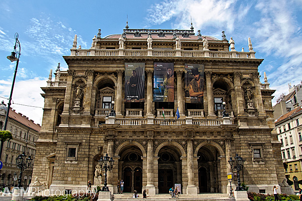 Budapest (Hungary) Opera House from the exterior