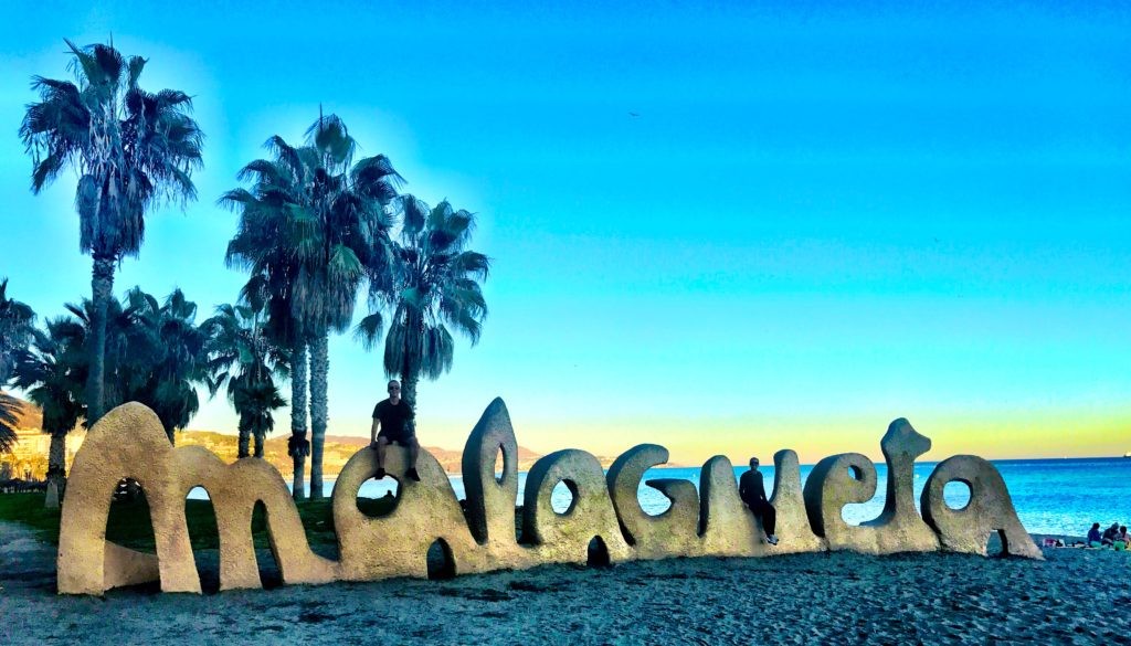 The Beach And Malagueta Sign Are A MUST See When Visiting Malaga, Spain