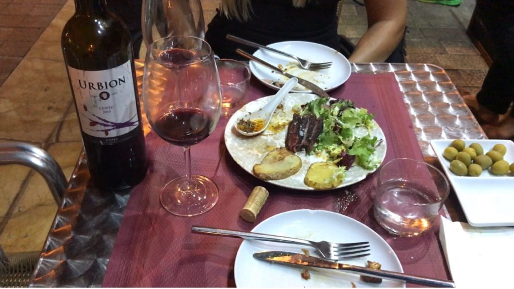 A trip to Malaga, Spain is not complete without going out to dinner for tapas and a bottle of wine.