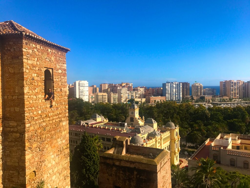 Stunning Views From The Alcazaba In Malaga, Spain