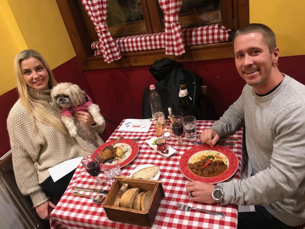 Josh, Miesha & The Traveling Blondie at Hungarikum Bistro in Budapest, Hungary