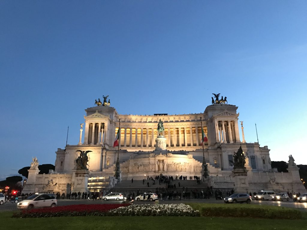 Just standing back and admiring the great Altare Della Patria in Rome Italy from the outside is all you need