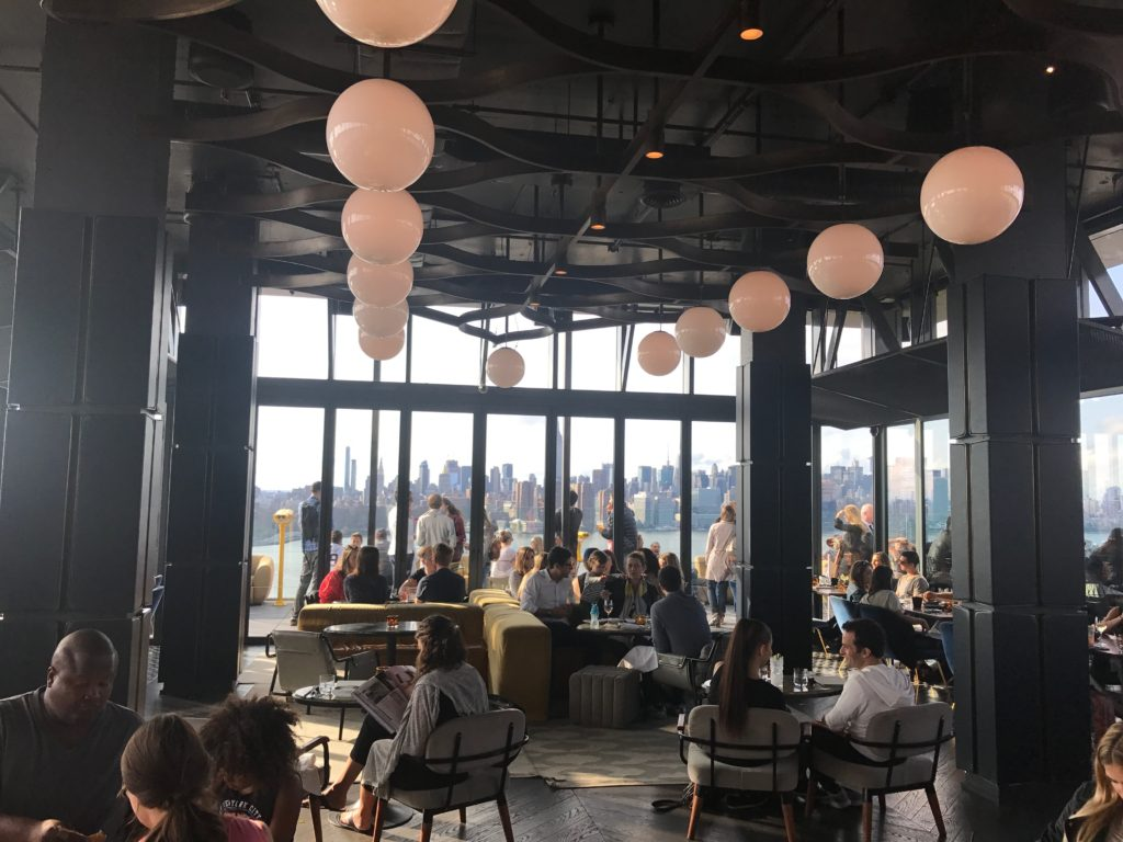 Located at the William Vale Hotel in Brooklyn, The Kingsley is a super posh bar with pristine views of New York City!
