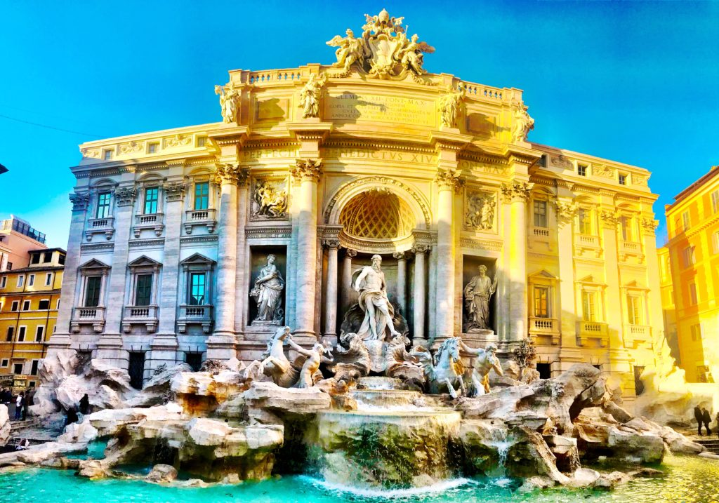 Trevi Fountain is THE iconic fountain to visit in Rome, Italy