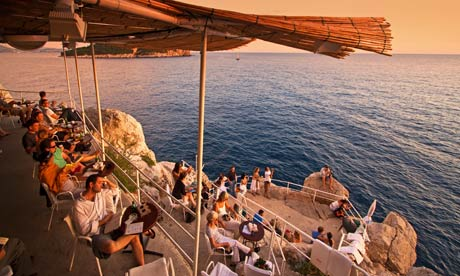 If you're visiting Dubrovnik, Croatia, be sure to grab a drink at Buza Bar.