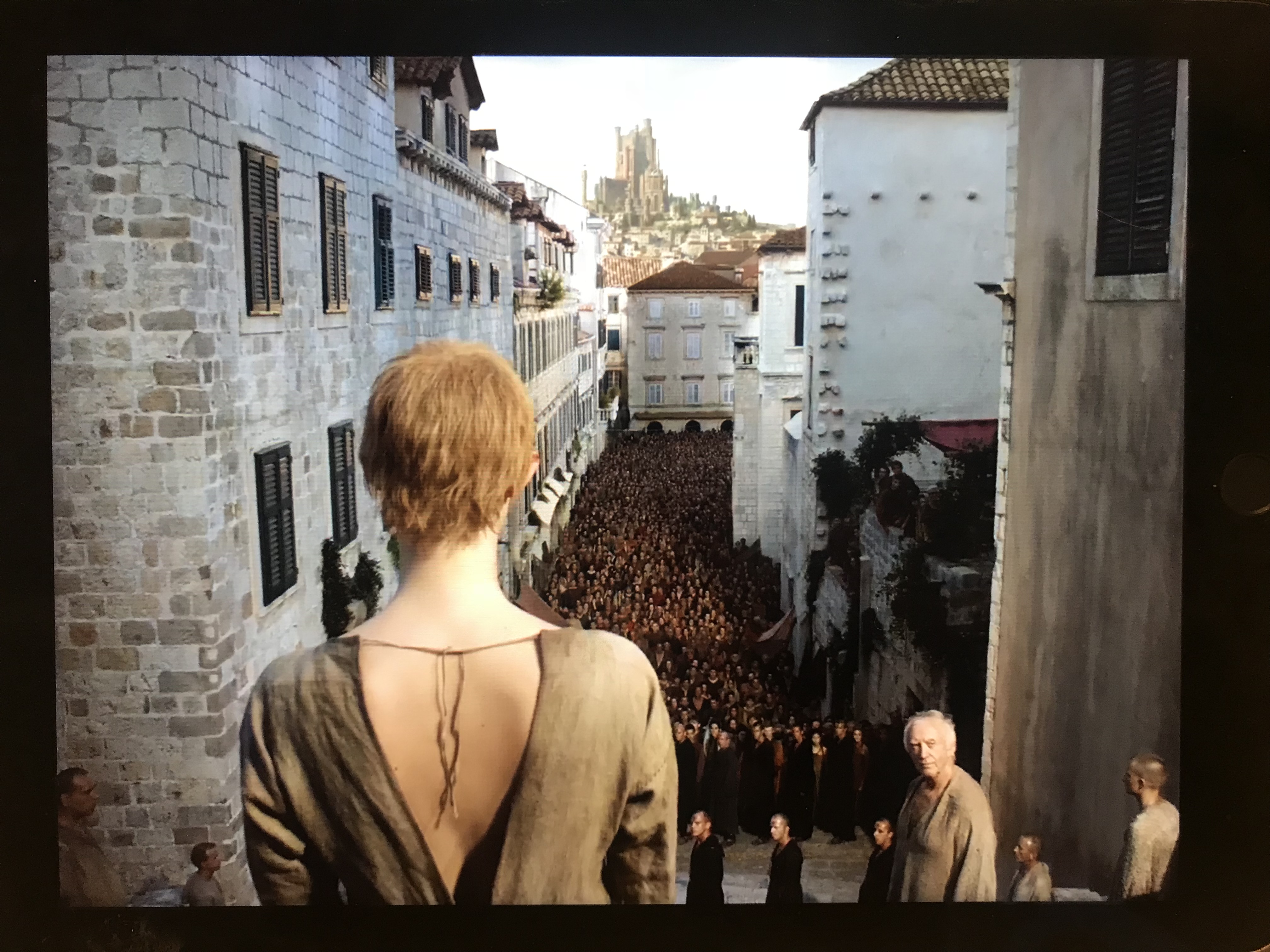 The iconic scene where Cersei began her walk of shame through the streets of King's Landing was filmed in Old Town, Dubrovnik, Croatia