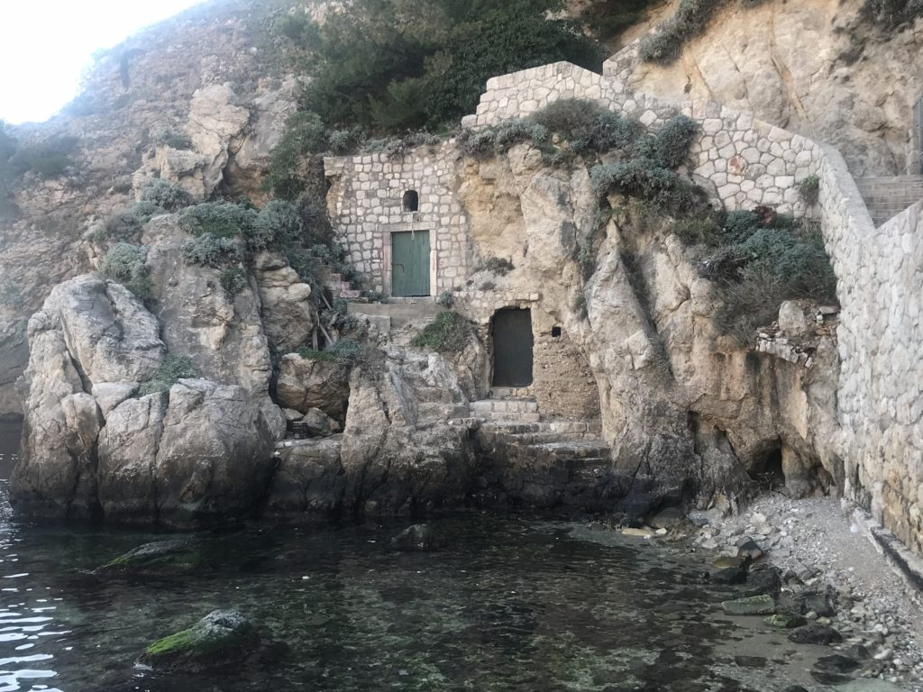 The scene in Game of Thrones where the Gold Cloaks kill King Robert's sons was filmed in Dubrovnik West Harbor in Dubrovnik, Croatia