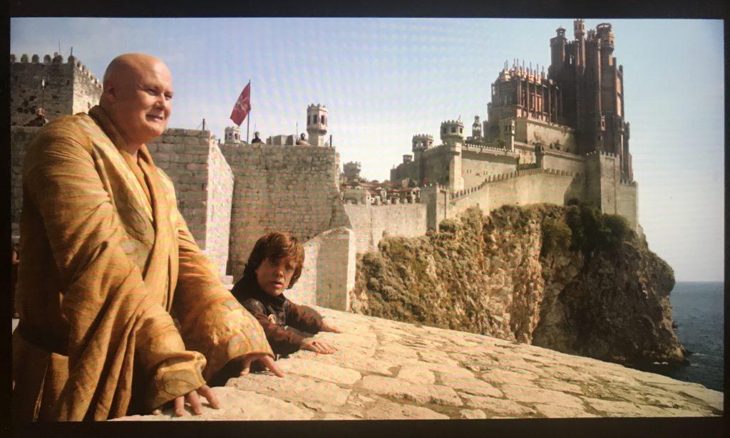 The scene where Tyrion & Varys speak was filmed on the Old Town Walls in Dubrovnik, Croatia