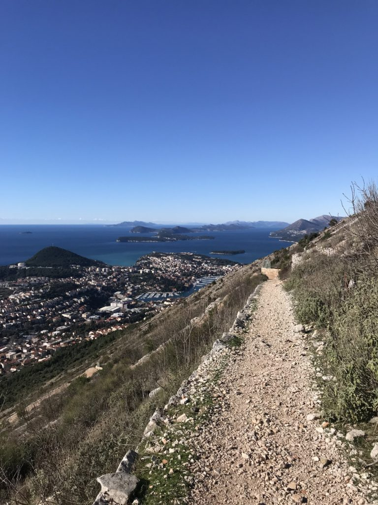 Hike Down From Dubrovnik Cable Car In Croatia
