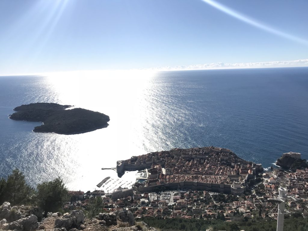 View From The Top Of Dubrovnik Cable Car In Croatia