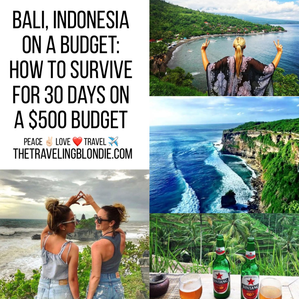 Bali Indonesia On A Budget: How To Survive for 30 Days On A $500 Budget