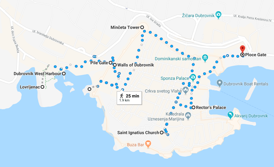 Check out my easy to use map that shows the top sites for filming Game of Thrones in Dubrovnik, Croatia