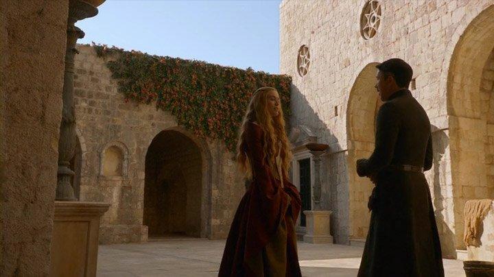 The scene where Cersei and Little Finger discuss power was filmed at Fort Lovrijenac in Dubrovnik, Croatia