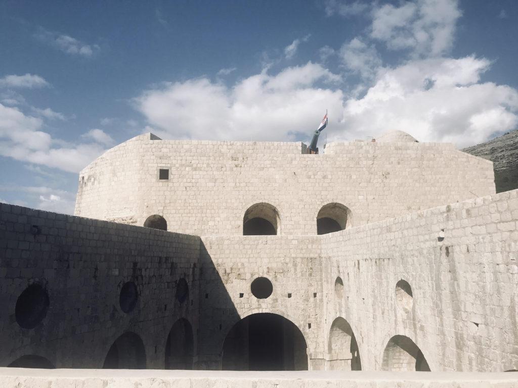 In Game of Thrones, King Joffrey's Name Day was filmed at Fort Lovrijenac in Dubrovnik, Croatia