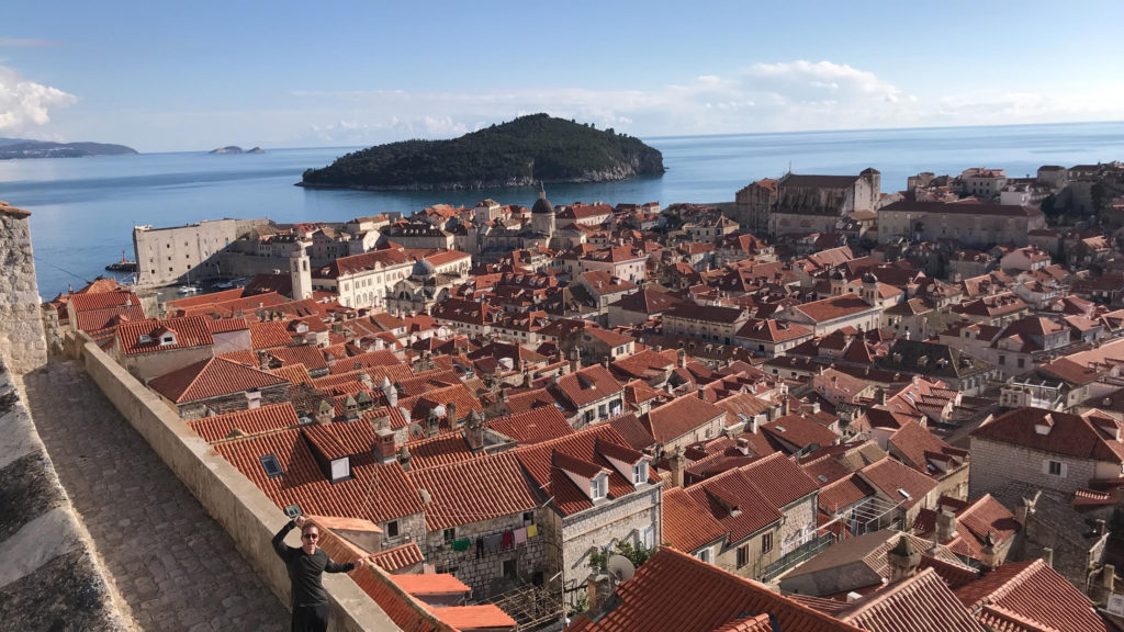 Taking from above the city walls, this is the real view of King's Landing in Dubrovnik, Croatia